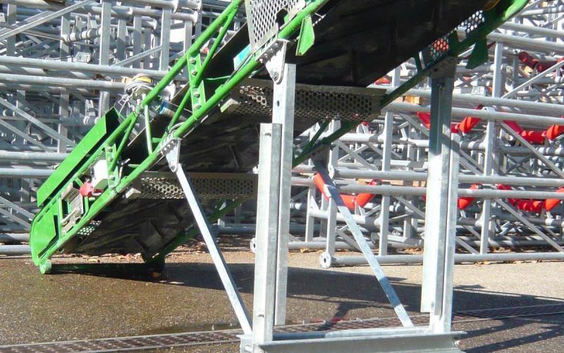 Palée verticale Tecnitude - Options pour un convoyeur à bande