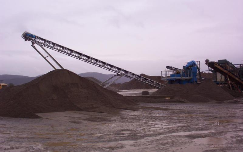 Convoyeur à bande Tecnitude pour le transport de sable