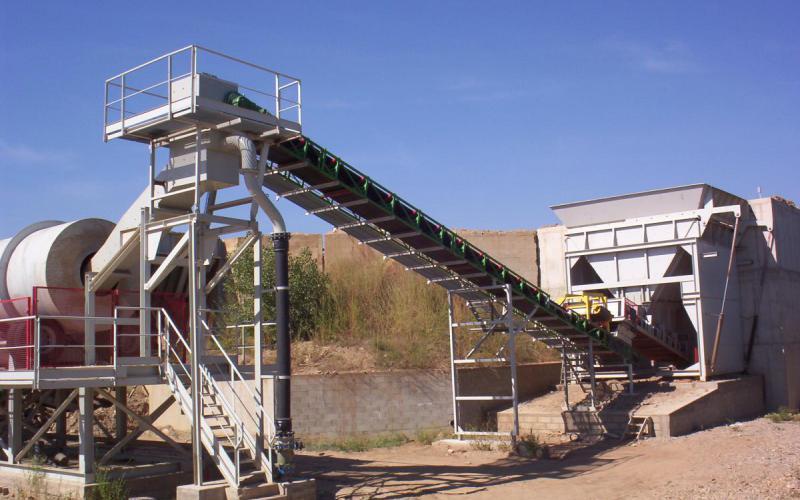 Tecnitude transporteur à bande transport de minéraux
