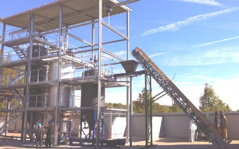 Convoyeur à bande Tecnitude pour transport de Drèche de bière - Biomasse