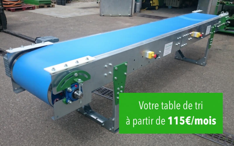 Your sorting table as for 115 € / month