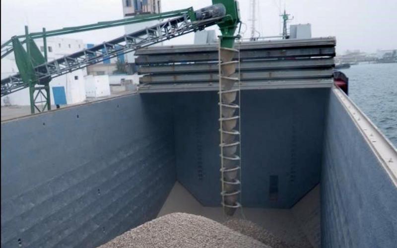 Chargement de minéraux en navires en avec maitrise de chute par colonne cascade