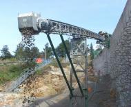 Convoyeur à bande Tecnitude pour le transport de béton