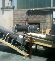 Convoyeur à bande Tecnitude pour le transport de rafles de raisin - biomasse