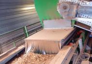 Bande navette Tecnitude pour l'alimentation d'une centrale de chauffe biomasse