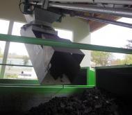 Goulotte Tecnitude avec bec de jetée orientable pour le transport de boues et déchets