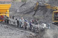 Flat conveyor transfered Tecnitude minerals