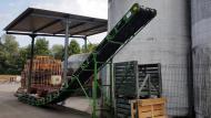 Convoyeur à bande avec inflexion Tecnitude pour la viticulture