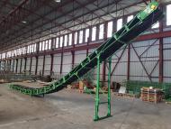 Convoyeur à bande Manubloc E.A 14 m x 650 mm dans nos ateliers